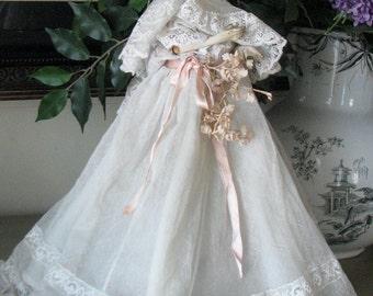 1920s Boudoir Doll Lamp Elaborate Dress