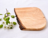 Small Wood Cutting Board, Natural Edge Salvaged Maple 948, Ready to Ship