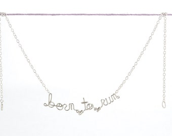 Born To Run Necklace - Motivational Jewelry - Fitness Inspiration - Marathon necklace - Gift for Athlete - Runners Mantra