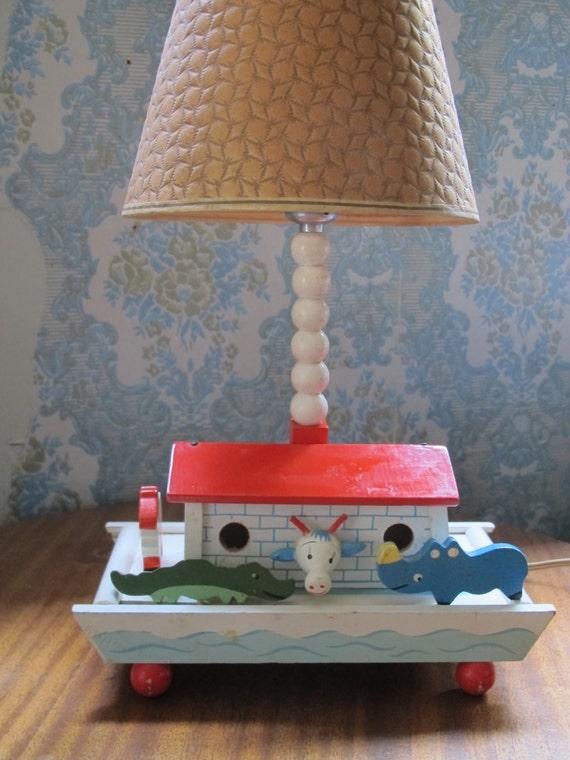 Vintage Irmi Child S Lamp Noah S Ark Baby Nursery