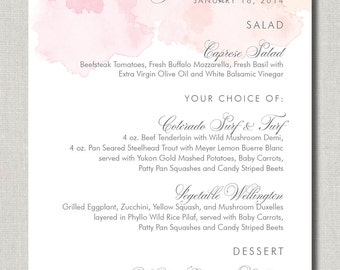 Touch of Colour Menu - Set of 50 for Weddings, Events, Parties and More - by Abigail Christine Design
