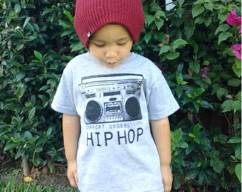 Support Underground Hip Hop Toddle Shirt by Graphic Villain printed on ultra soft ring spun cotton