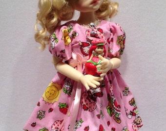 Strawberry Shortcake dress for Talyssa  MSD BJD Kaye Wiggs girls