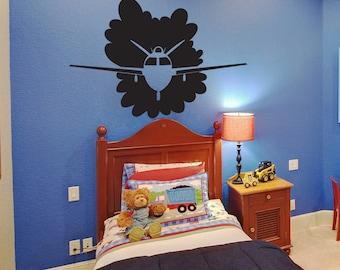 Vinyl Wall Art Decal Sticker Flying Plane OSDC744m