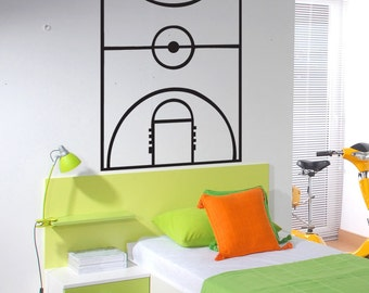 Vinyl Wall Art Decal Sticker Basketball Court Board Layout  1320s
