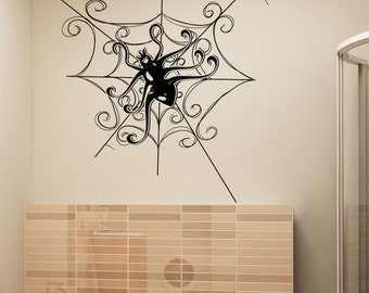 Vinyl Wall Decal Sticker Decorative Spider 1347m