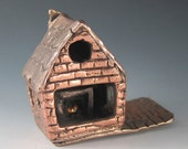 Bronze and Copper 3D Metal Brick House// Architecture Model // Metal Sculpture