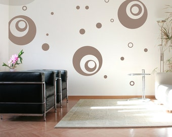 Supersized Circles - Vinyl Wall Decal