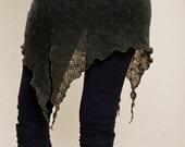 Bottle Green Pixie Skirt - Cute Knit  Skirt - woman clothing