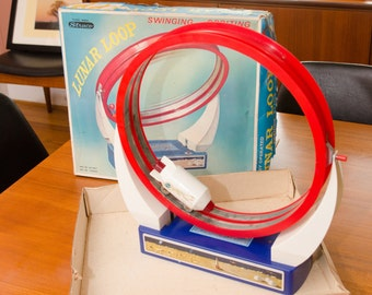 Straco Daiya Lunar Loop Space Toy 1960s With Box complete Hard To find Atomic Age