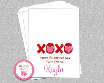 Valentines Day Candy Bags, Valentines Day ,  Goody Bags, Party Favor , Set of 24