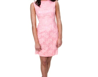 Pretty in Pink, French Vintage, Lace Wiggle Dress, from Paris