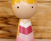 Sleeping Beauty Kokeshi Doll