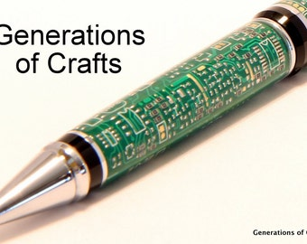 Handmade Pen - Computer Pen - Circuit Board Pen - Unique Gift - Techie Gift ** Graduation Gift * Birthday gifts * Birthday Present