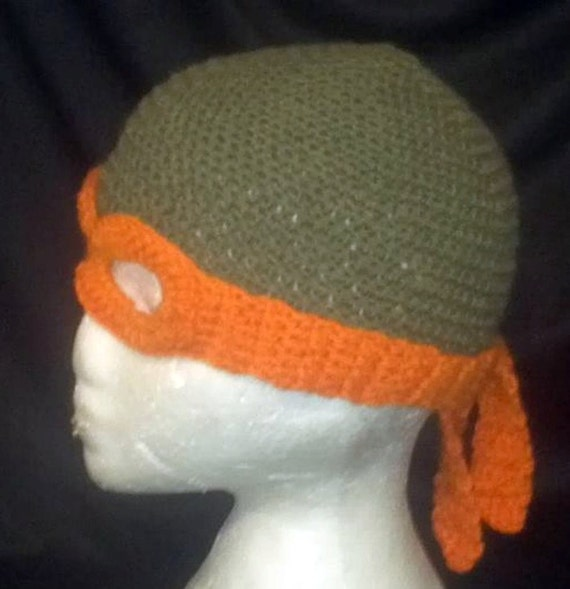 Free Crochet Pattern For Ninja Turtle Hat With Mask : Ninja Turtle Mask & Hat PATTERN Crochet TMNT Inspired Cosplay