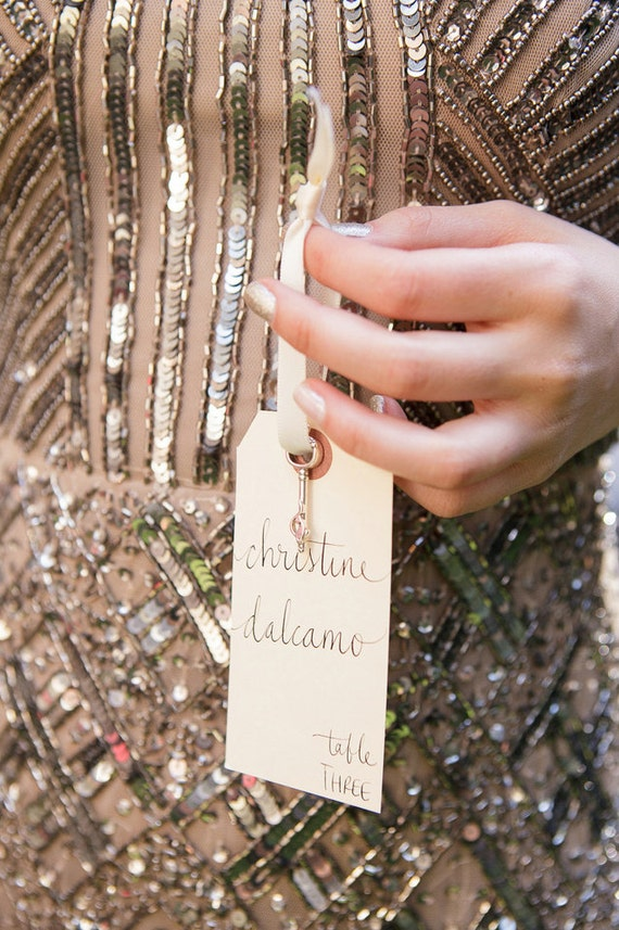 Wedding Name Place, Table, or Escort Cards, Shabby Chic Wedding, Manilla Vintage Tags with Lowercase Font