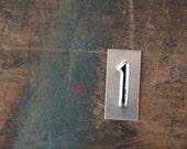 vintage industrial number 1 / metal letters / letter art