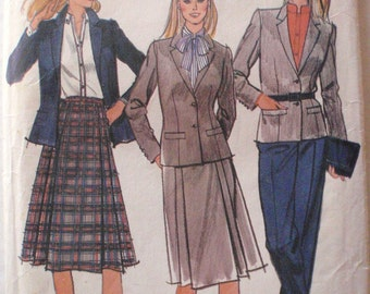 Women's Sewing Pattern - Lined Jacket, Skirt and Pants - Butterick 3424 - Size 10, Bust 32 1/2
