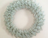 MOVING SALE-Mint Blend French Beaded Decorative Wreath (Small)