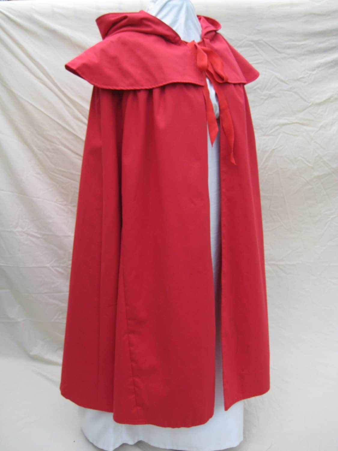 Regency colonial cloak cape custom made red riding hood for Colonial cape