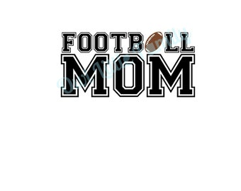 Football Mom Iron On Vinyl Decal