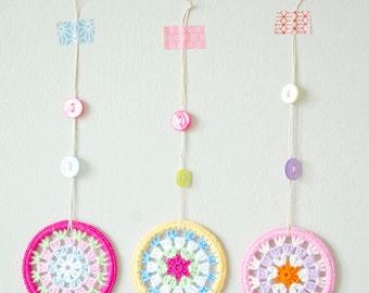 Kid's Decor -Crochet Granny Circle Decorations