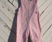 Pink corduroy overalls playsuit one piece size 24 months