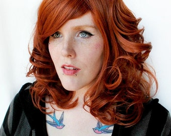 SALE Auburn wig, red wig, curly red wig | Boho redhead, scene wig, cosplay wig | Ravishing Redhead