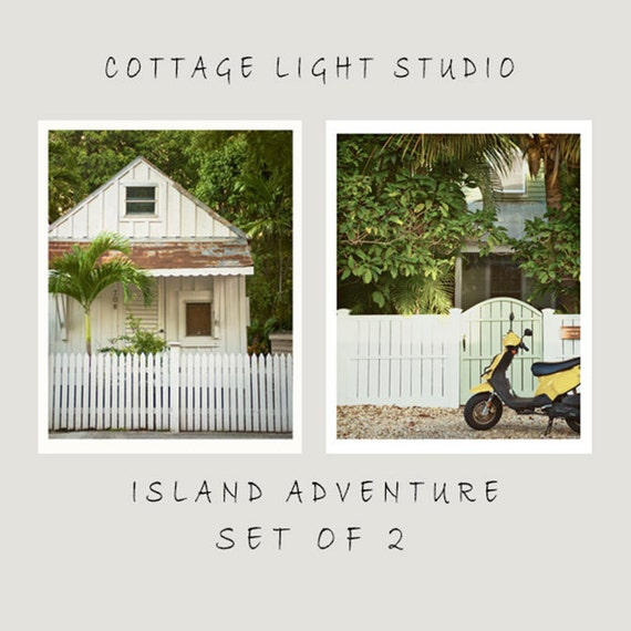 Art, Photography, Beach Photography, Print Set, Island Adventure, Cottage, Vespa, Prints, Wall Art