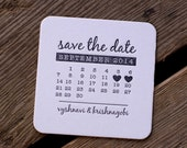 100 CUSTOM Coasters, modern design (Letterpress printed, 3.5 inches circle), perfect for weddings
