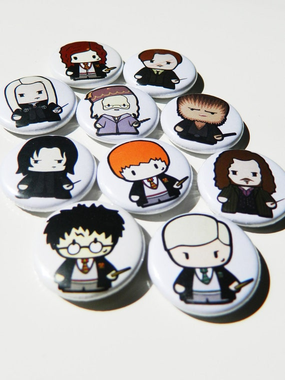 Wizard Harry and Friends! Pin Badges Buttons