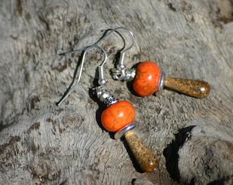 rustic casual earrings
