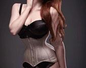 BESPOKE Nude Silk Longline Waist training Corset
