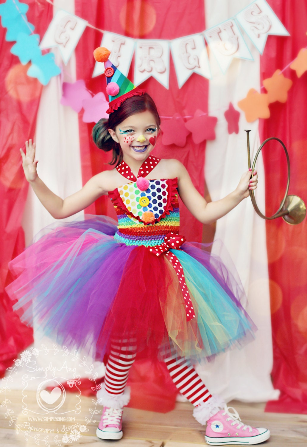 Girls Circus Costume Girls Clown Costume Carnival Birthday