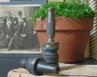 Two Vintage Brass Hose Nozzle / Gardening Supplies