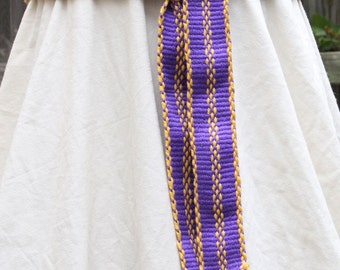 Soft Purple Sash - Handwoven Inkle Belt