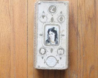 Antique Victorian/Edwardian Box of Family Momentos, Tin Types, Photos, Letters, Glasses, etc...