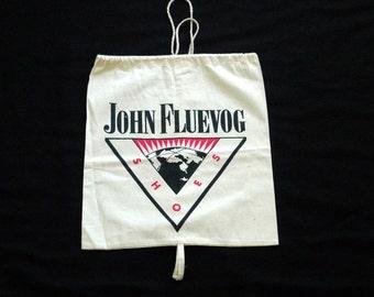 John Fluevog Shoes Bag Vintage Vogs Drawstring Shoe Bag Dust Cover Travel Bag Shoe Storage Logo Bag for Fluevogs Sewing Project
