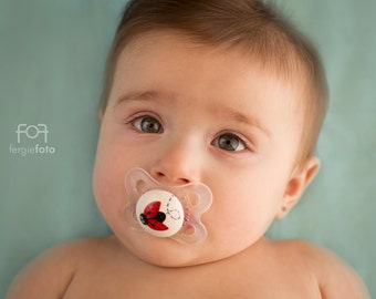 Lil Ladybug Custom Hand Painted Pacifier by PiquantDesigns