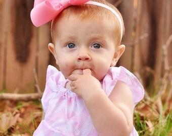 Baby Headband, XXL Loopy Grosgrain Baby Headband, Bow, ANY COLOR,  Baby Bow, 100+ Colors, Headband, Hair Bow, oot, Kinley Kate