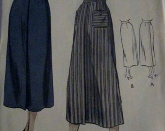 Vogue 6665 Vintage 1940s Long Pencil Skirt Sewing Pattern Hip 35