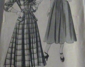 New York 525 Louise Scott Womens 40s Dress Sewing Pattern Bust 33