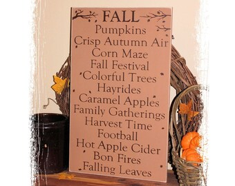 FALL Sign/Fall Favorite Things/Fall Decor/Home Decor/Fall Wood Sign/Handcrafted/Thanksgiving Decor/Typography/Autumn Decor