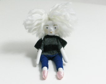 Henriette handmade contemporary dollmaking art doll