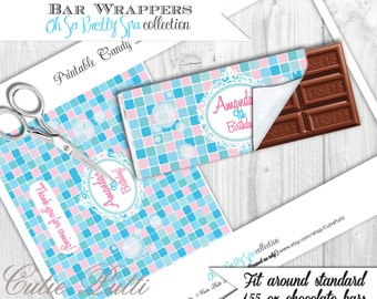 AMY ATLAS FEATURED Spa Party Collection-Printable Chocolate Bar Wrappers-Cutie Putti Paperie