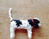 Sprocker Spaniel knitted in wool