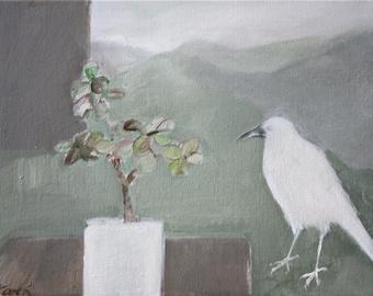 "White crow - print 11"" x 9"""