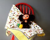Colorful Baby Blanket -Crib Blanket - Toddler Blanket - Multicolored - Citrus White Red Green