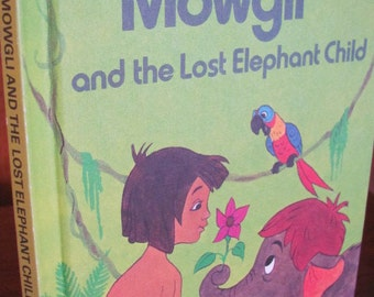 "Vintage ""Mowgli and the Lost Elephant Child"" Children's Book - 1978 Walt Disney Company Book Club Edition"