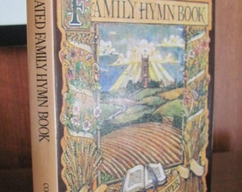 """Vintage 80's """"The Illustrated Family Hymn Book"""" Religious Songbook - 1980 - Church - Hymns - Music - Worship"""